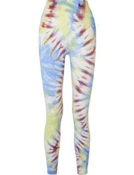 Tie Dyed Stretch Jersey Leggings by Tory Sport