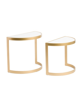 Set Of 2 Demi Marble Nesting Tables by Tj Maxx
