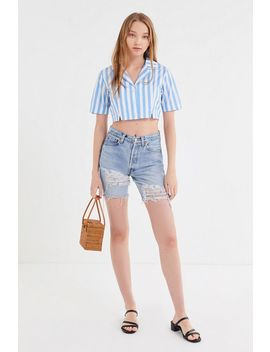 Capulet Fara Striped Cropped Button Down Shirt by Capulet