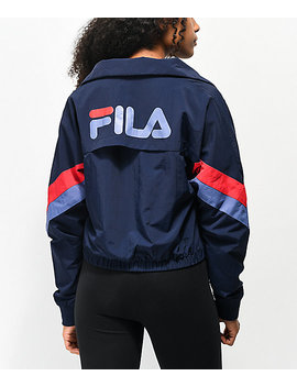Fila Chiaki Navy Windbreaker Jacket by Fila
