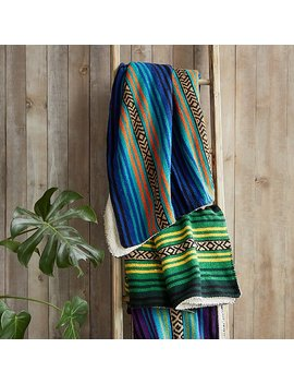 Sherpa Backed Mexican Blanket by Uncommon Goods