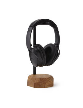 Oak Headphone Stand by Uncommon Goods