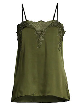 The Sweetheart Lace Silk Camisole Top by Cami Nyc