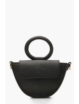 Ring Handle Grab Bag & Strap by Boohoo