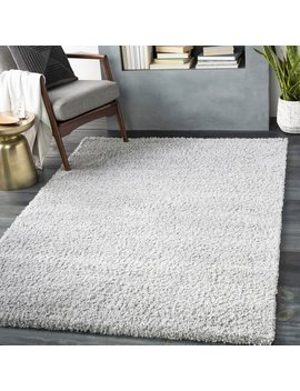 Bjarne Solid And Border Light Gray Area Rug by Wrought Studio