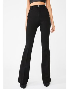 Caviar Ponte Flared Pants by Blank Nyc