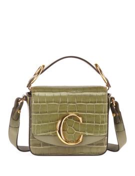 C Mini Croc Embossed Calfskin Crossbody Bag by Chloe