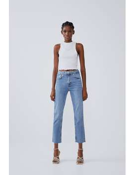Hi Rise Slim Fit Jeans View All T Shirts Trf by Zara