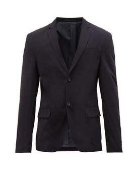 Single Breasted Nylon Twill Jacket by Prada
