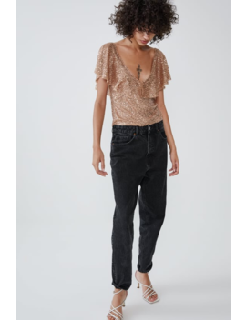 Sequin Top With Frill View All T Shirts Trf by Zara