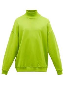 High Neck Cotton Blend Jersey Sweatshirt by Marques'almeida