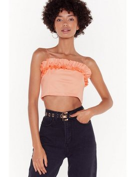 Tier Comes Revenge Ruffle Crop Top by Nasty Gal