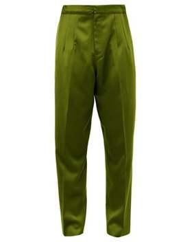 High Rise Silk Doupioni Trousers by Marques'almeida