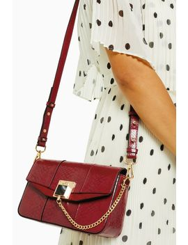 Crissy Red Chain Cross Body Bag by Topshop