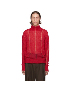 Red Submarine Rollneck Sweater by Our Legacy