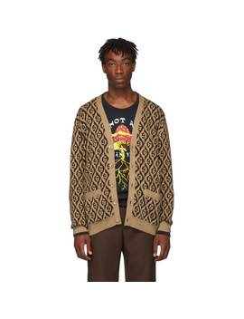 Brown G Rhombus Cardigan by Gucci