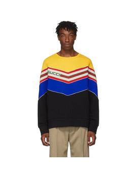 Black V Neck Sweatshirt by Gucci