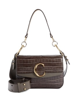 Croc Embossed Leather Shoulder Bag by ChloÉ