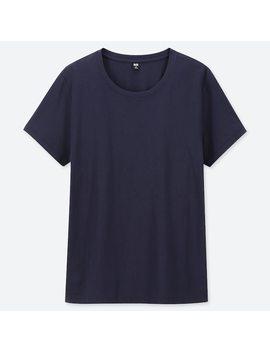 T Shirt 100% Cotone Supima Girocollo Maniche Corte Donna by Uniqlo
