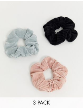 Asos Design – 3 Pack Plisserade Hårsnoddar I Neutrala Färger by Asos Design