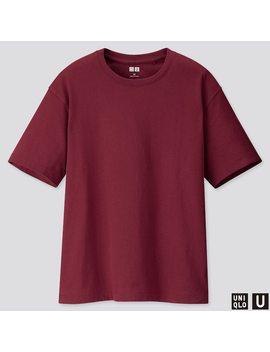 T Shirt Uniqlo U Relax Girocollo Maniche Corte Donna by Uniqlo