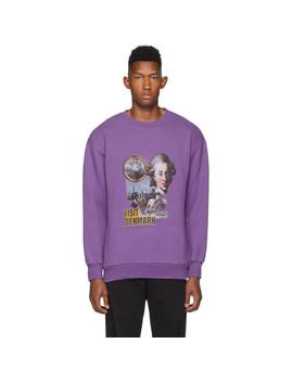Purple Artwork Crewneck Sweatshirt by Han Kjobenhavn