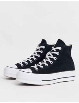 Converse   Chuck Taylor   Sneakers Alte Nere Con Plateau by Converse