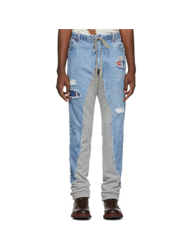 Blue & Grey 50/50 Denim/Terry Jeans by Greg Lauren