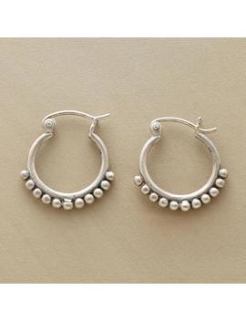 Silver Bead Hoop Earrings by Sundance