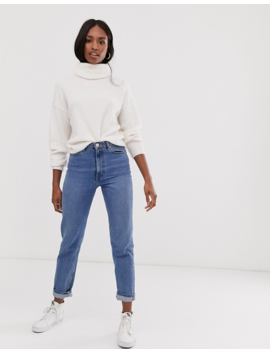 Asos Design Tall Fluffy Jumper With Cowl Neck In Recycled Blend by Asos Design