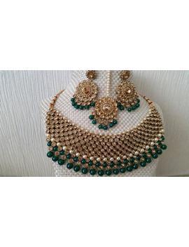 Indian Jewellery Jewelry Bridal Wedding Crystal Necklace Set Choker Set Pearls Polki Kundan Earrings Tikka Tika Set Necklace Set Bollywood by Etsy