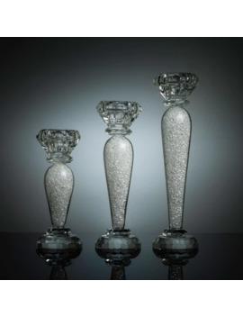 Premium 6, 7 & 9 Inch Crystal Candlestick (3 Piece Set) by Matashi