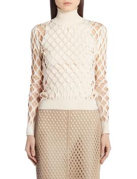Mesh Turtleneck Sweater by Fendi