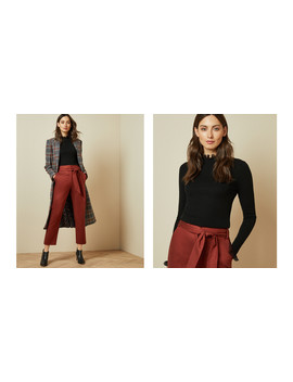 Frill Neck Detail Jumper by Ted Baker
