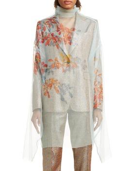 Darci Shadow Leaf Sheer Silk Top by Dries Van Noten