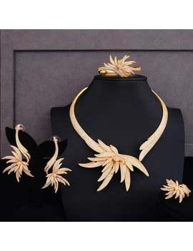 Luxury Choker Jewelry Sets•Cubic Zircon Earrings•Earrings•Bridesmaid Gift•Gift•Gift For Her•Jewelry•Luxury Ring Sets•Fashion Jewelry. by Etsy