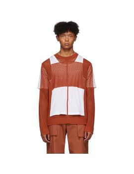 Orange Crochet Jersey Sweater by Craig Green