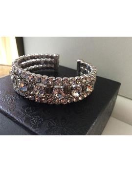 Beautiful Vintage Diamanté Bangle by Etsy