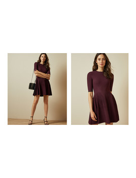 Stretch Knitted Skater Dress by Ted Baker