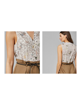Cheetah Chic V Neck Cami by Ted Baker