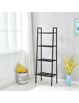 Red/Black Storage Shelf Bookcase Display Ladder Shelf Wall Organizer Rack 4 Tier by Ebay Seller