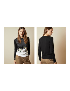 Opal Printed High Neck Jumper by Ted Baker