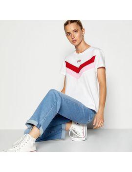 White Logo Print Cotton T Shirt by Levi's