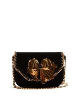 Falabella Box Mini Velvet Cross Body Bag by Stella Mc Cartney