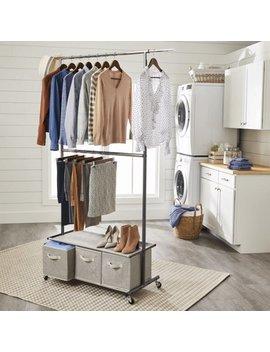 Better Homes & Gardens® Charleston Double Rod Garment Rack With 3 Drawer Organizer by Better Homes & Gardens