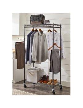 Better Homes & Gardens Double Hanging Garment Rack, Gunmetal Finish by Better Homes & Gardens