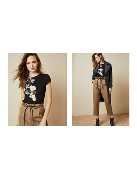 Opal Print Fitted T Shirt by Ted Baker