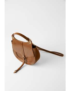 Leather Equestrian Crossbody Bag View All Bags Woman by Zara