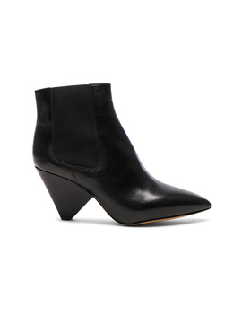 Leather Lashby Low Boots by Isabel Marant