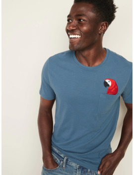 Soft Washed Embroidered Graphic Pocket Tee For Men by Old Navy